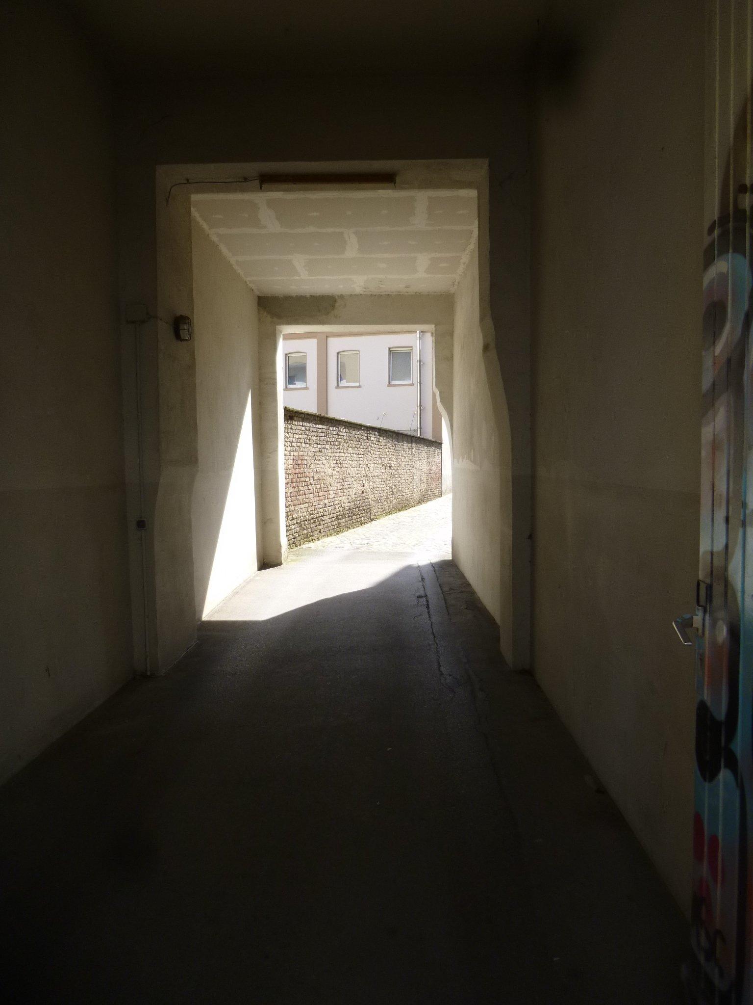 Licht am Ende der Durchfahrt
