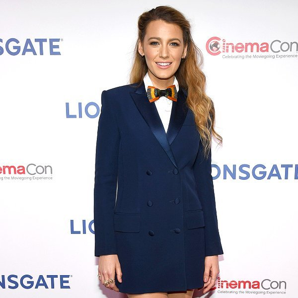 Blake Lively Wows in a Bow Tie and Tuxedo Minidress on the Red Carpet