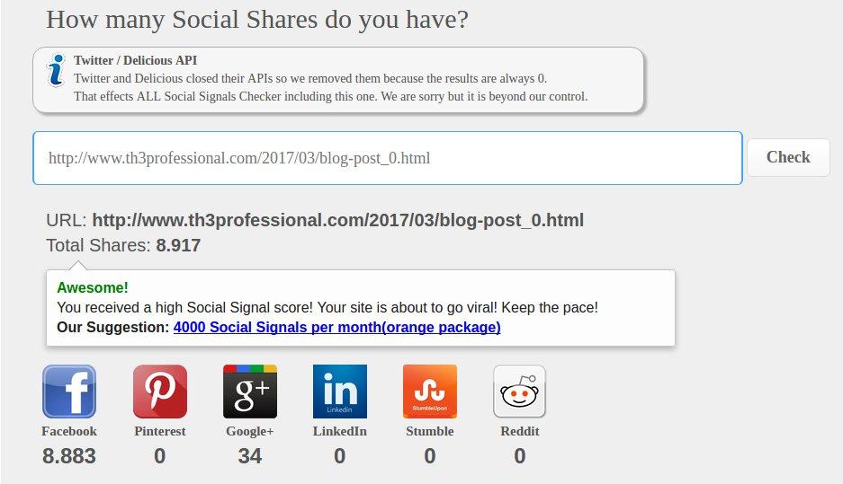 معرفة عدد المشاركات الاجتماعية